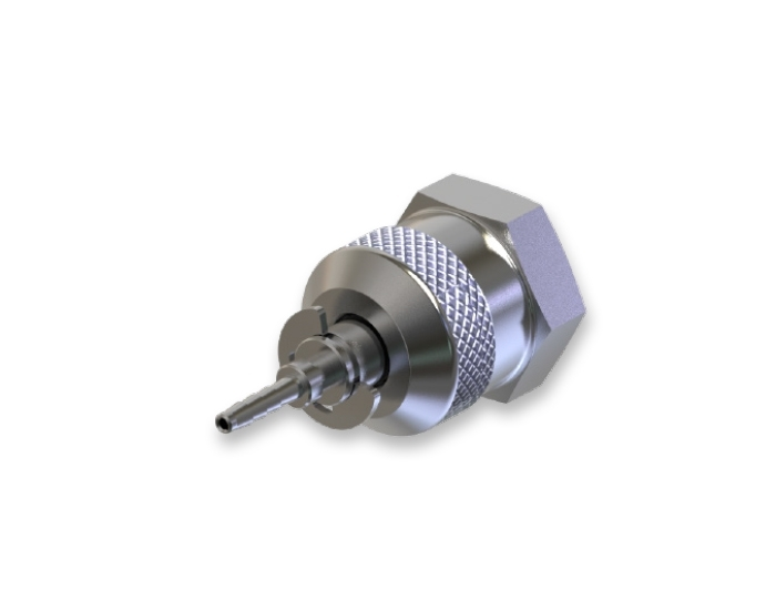 ' SWIVEL PIN FEMALE TEST COUPLING FITTING WITH HEXAGON '